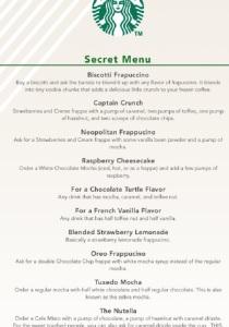 Starbucks Hidden Menu - Popular Drinks